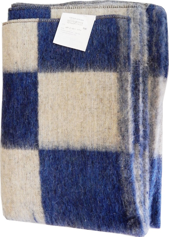 Одеяло детское ПАПИТТО С-106-1-ИЛШ_синий, синий полушерстяное пальто