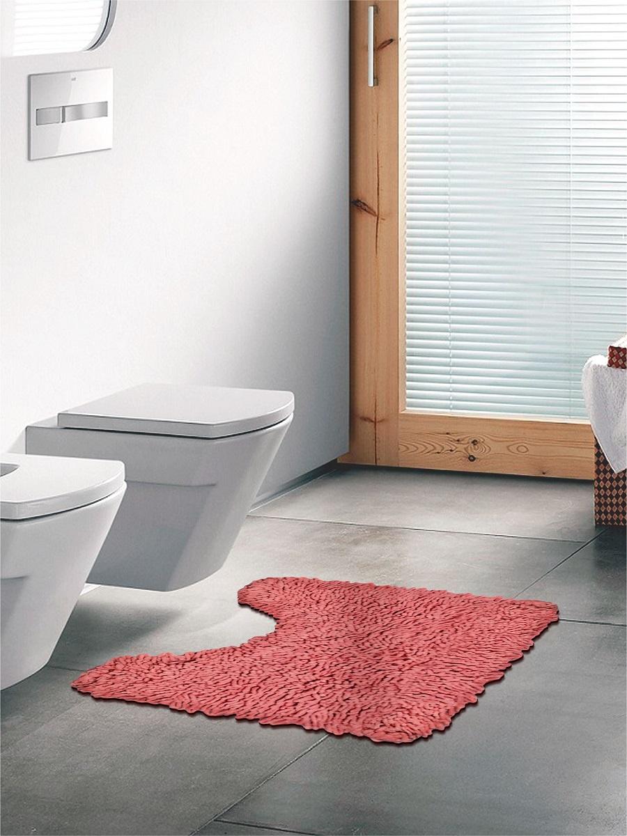 Коврик для туалета длинноворсовый DeНАСТИЯ, 50х50 см, пудра