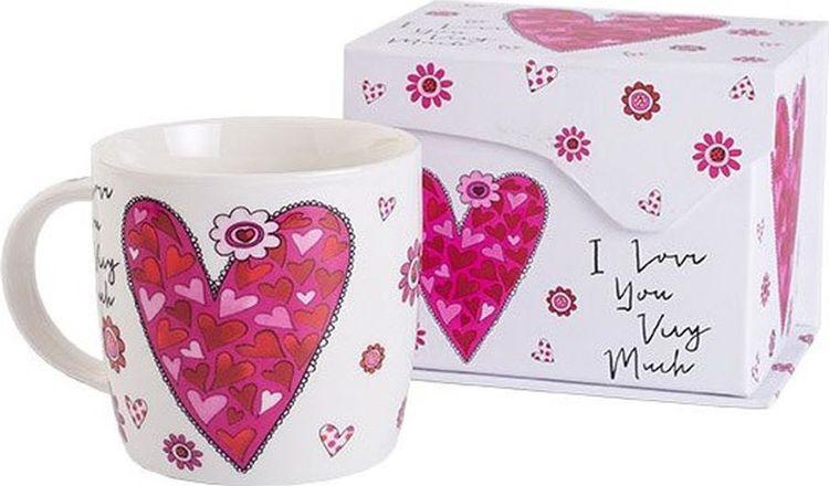 Кружка Gutenberg Сердце, в подарочной упаковке, 31410, разноцветный, 200 мл все цены