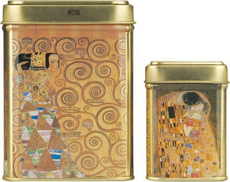 Банка для чая Gutenberg Климт, 77906, разноцветный, 100 г банка для чая gutenberg коллаж 70024 разноцветный 150 г