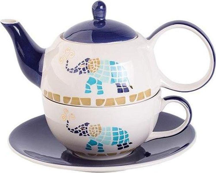 Фото - Набор чайный Gutenberg Слон Чайная пара + Чайник, 400 мл, 80051, разноцветный чашка чайная gutenberg цветение сливы мейхуа 200009 разноцветный 100 мл