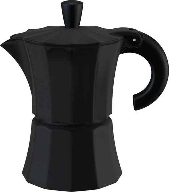 Кофеварка гейзерная Gutenberg Morosina, MOR003, черный, на 6 чашек