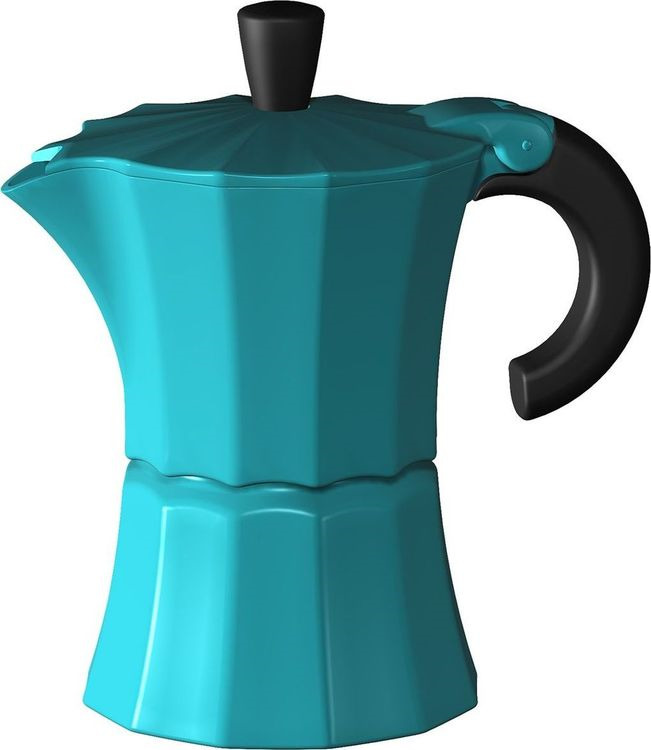 лучшая цена Кофеварка гейзерная Gutenberg Morosina, MOR003, синий, на 6 чашек