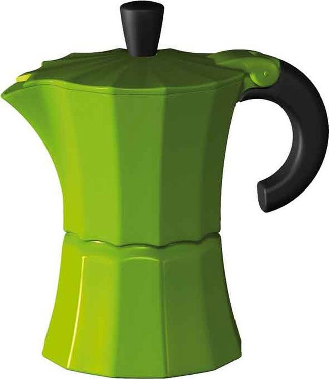 лучшая цена Кофеварка гейзерная Gutenberg Morosina, MOR003, зеленый, на 6 чашек