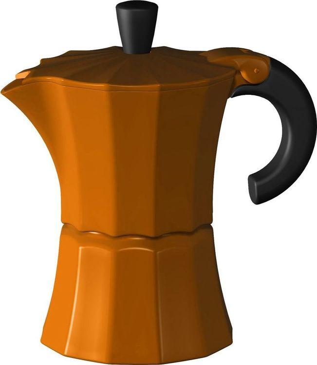 Кофеварка гейзерная Gutenberg Morosina, MOR003, оранжевый, на 6 чашек