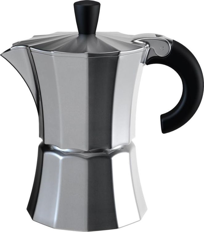 Кофеварка гейзерная Gutenberg Morosina, MOR003, серый металлик, на 6 чашек