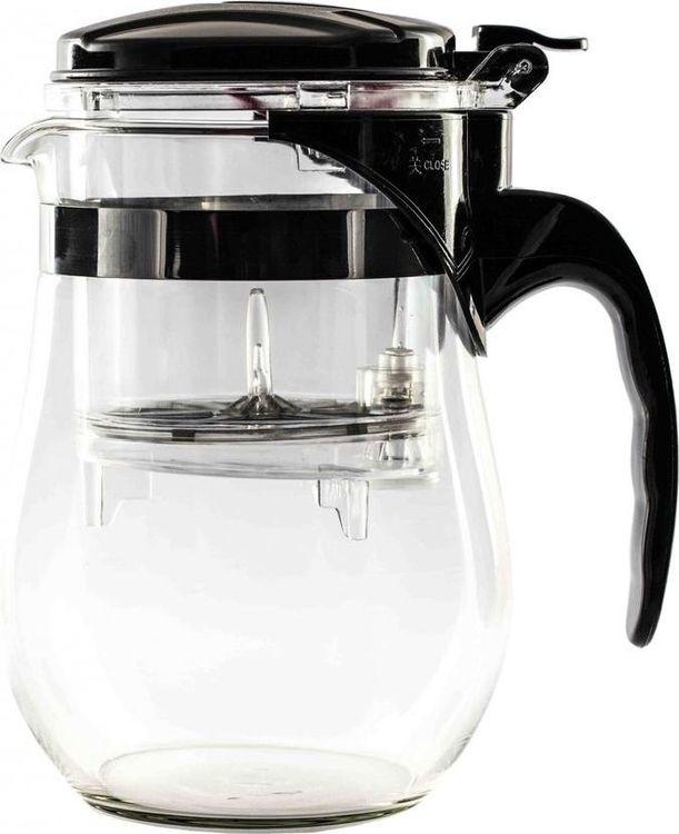 Чайник заварочный Gutenberg Гунфу, QR-1000, прозрачный, 1 л чайник заварочный lilac 5520010 1 прозрачный черный 1 5 л