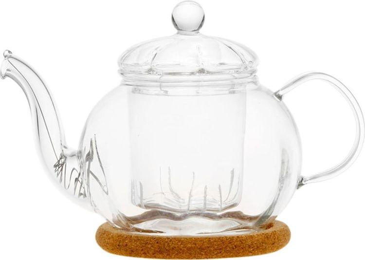 Чайник заварочный Gutenberg Фиалка, 003802, прозрачный, 350 мл цена