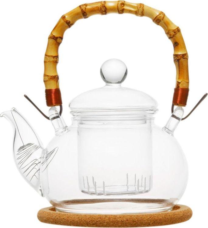 Чайник заварочный Gutenberg Душистая кувшинка, 003843, прозрачный, 1 л цена