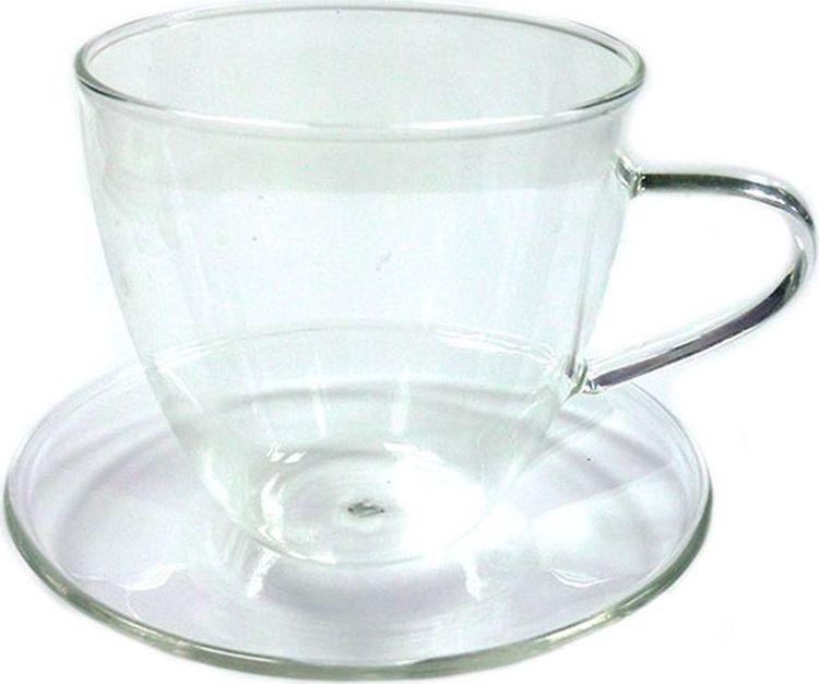 Фото - Чайная пара Gutenberg Стеклянный бутон, 003860, прозрачный, 150 мл чашка чайная gutenberg цветение сливы мейхуа 200009 разноцветный 100 мл