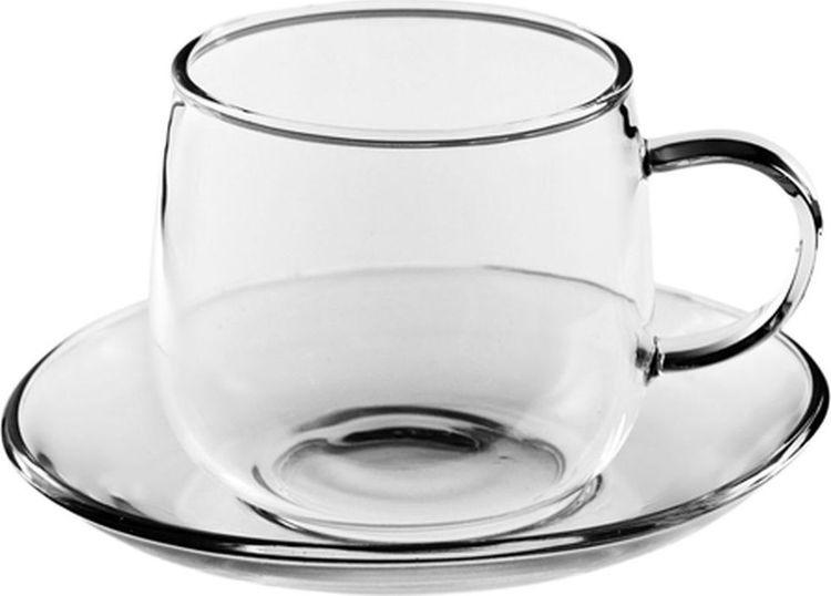 Фото - Чайная пара Gutenberg Чайная роза, 003861, прозрачный, 200 мл чашка чайная gutenberg цветение сливы мейхуа 200009 разноцветный 100 мл