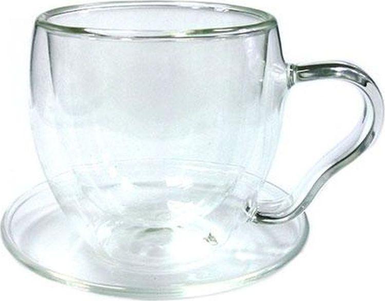 Чайная пара Gutenberg Канны, 003888, прозрачный, 200 мл003888Чайная пара Канны из жаропрочного стекла, объем 200 мл