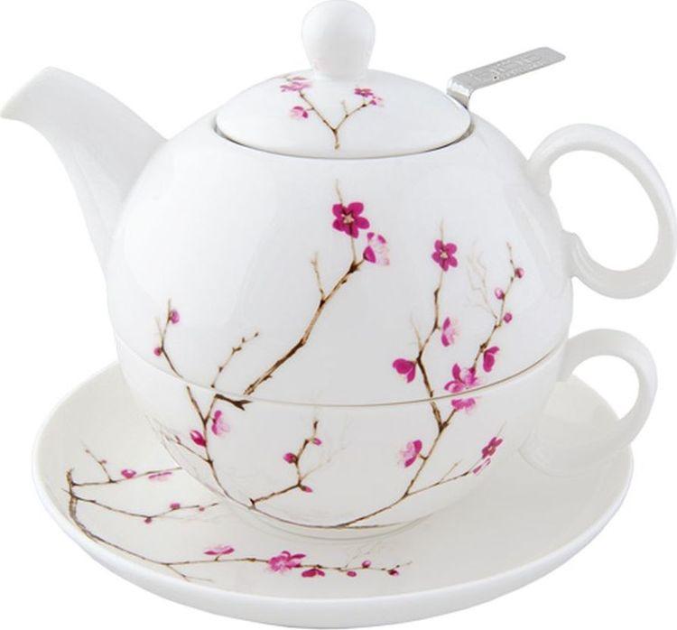 Набор чайный Gutenberg Цветущая сакура Кружка, 250 мл + Чайник, 450 мл, 009902, разноцветный чайник 250 мл elff decoration чайник 250 мл
