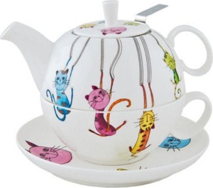 Набор чайный Gutenberg Паркур Кружка, 250 мл + Чайник, 450 мл, 009913, разноцветный чайник 250 мл elff decoration чайник 250 мл