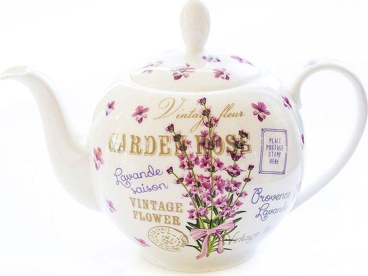 Чайник заварочный Gutenberg Лаванда, 009971, разноцветный, 1 л цена