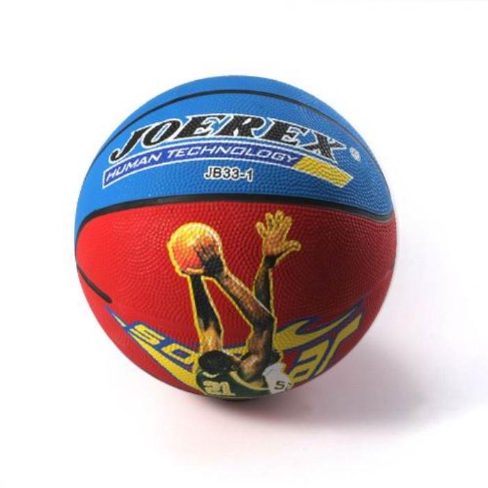 Мяч баскетбольный JOEREX JB33-2 (красный), красный, синий самокат joerex для подростков sc 2004s красный красный