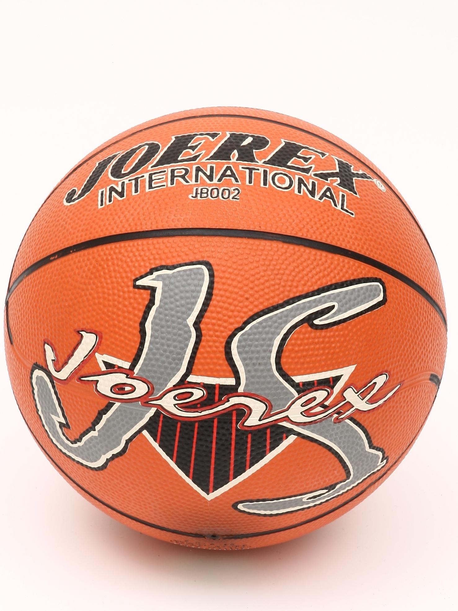 Мяч баскетбольный JOEREX JB002, коричнево-красный цена