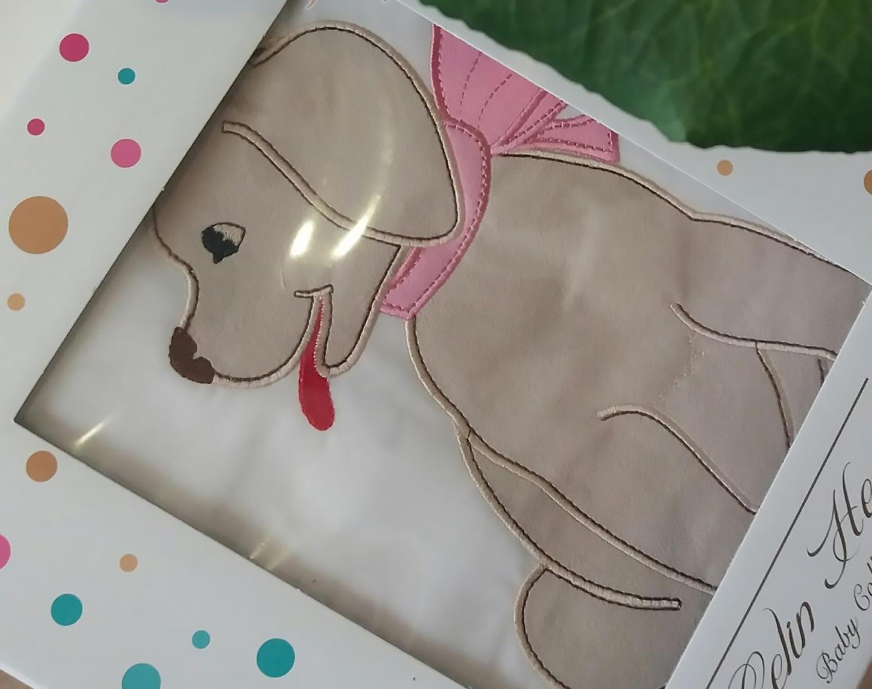 Комплект белья для новорожденных Gelin home DOGGY, розовый, розовый