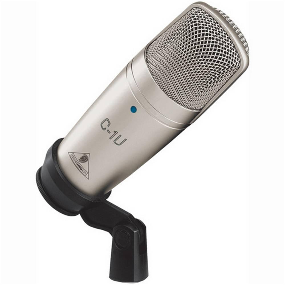 Микрофон BEHRINGER C-1U, серебристый студийный микрофон behringer c 2 studio condenser microphones