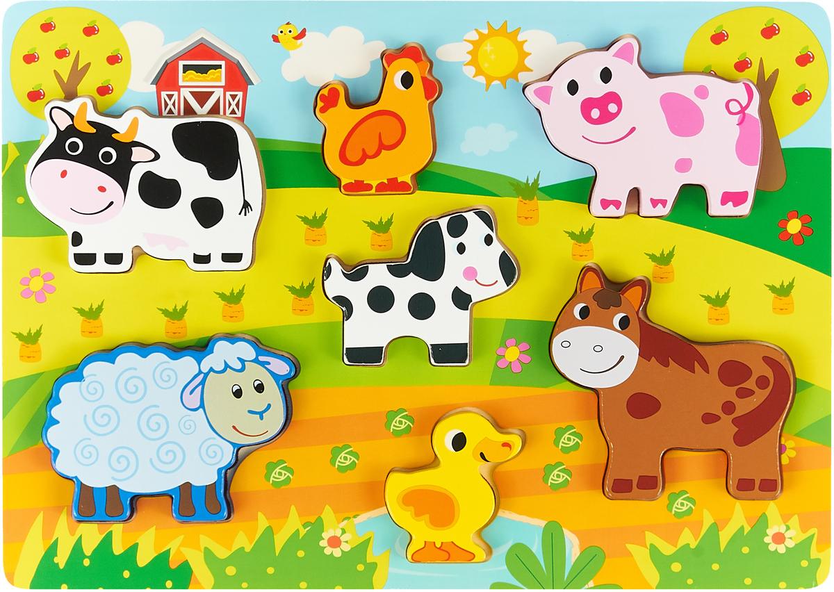 Пазл для малышей Mapacha Вкладыши-фигурки Животные, 76726 mapacha пазл для малышей вкладыши формы и цвета