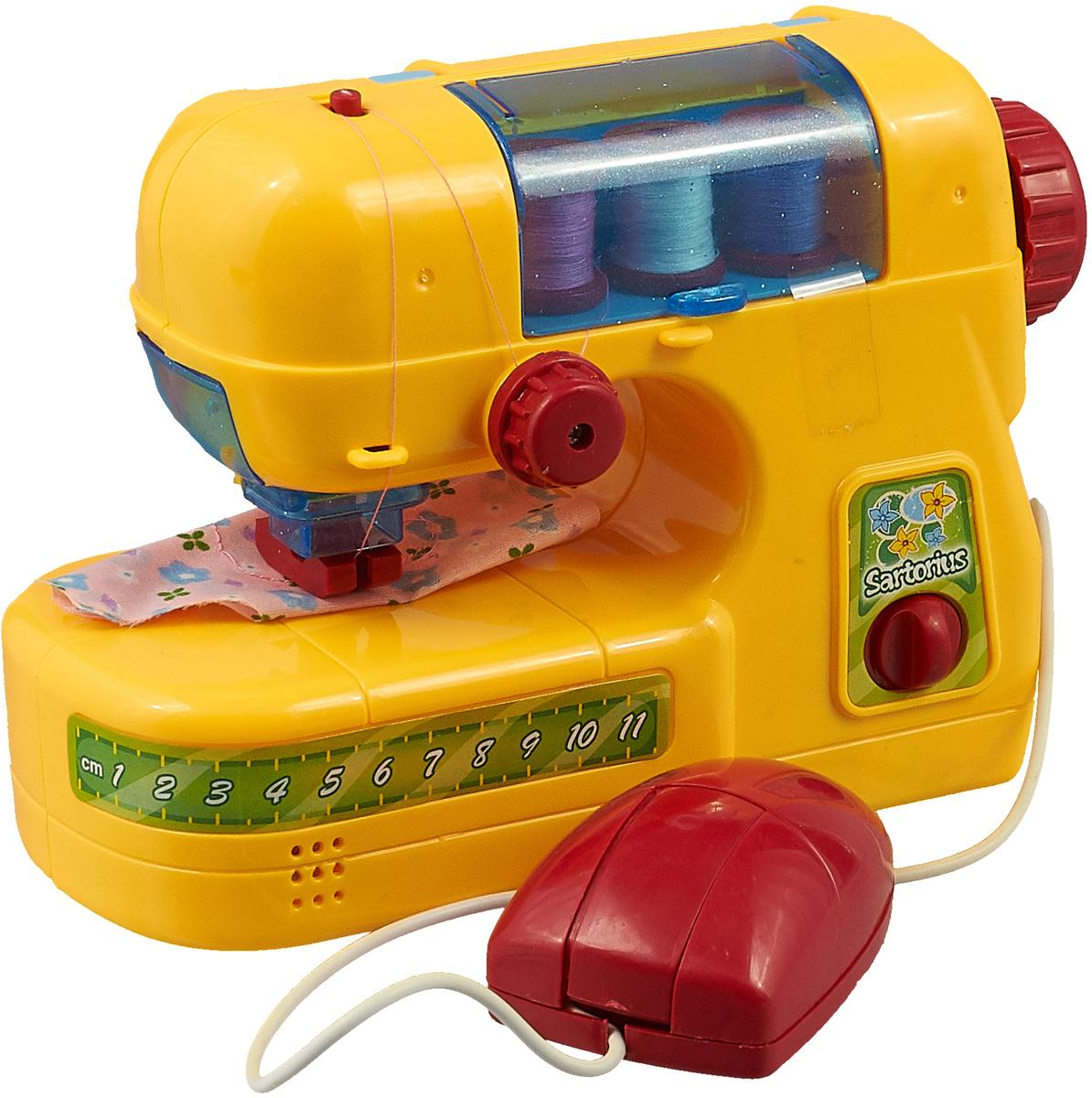 Игровой набор ABtoys Помогаю маме Швейная машинка, PT-00095(08001) конструктор abtoys кид блок 10 в 1 в наборе с шуруповертом на батарейках и аксессуарами 286 деталей pt 00904