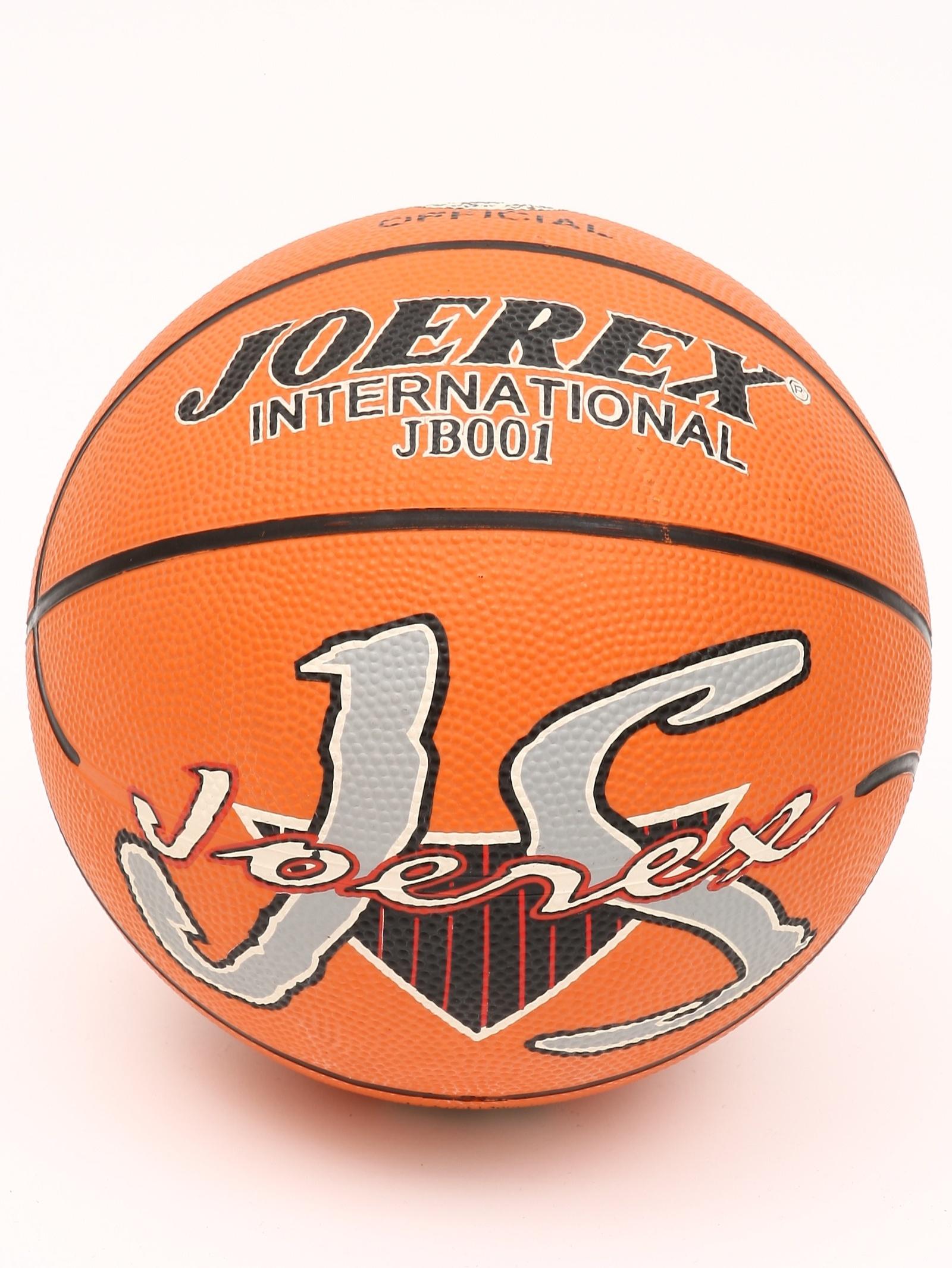 Мяч баскетбольный JOEREX JB001, коричнево-красный рюкзак joerex 19л shx 21629 красный пэ