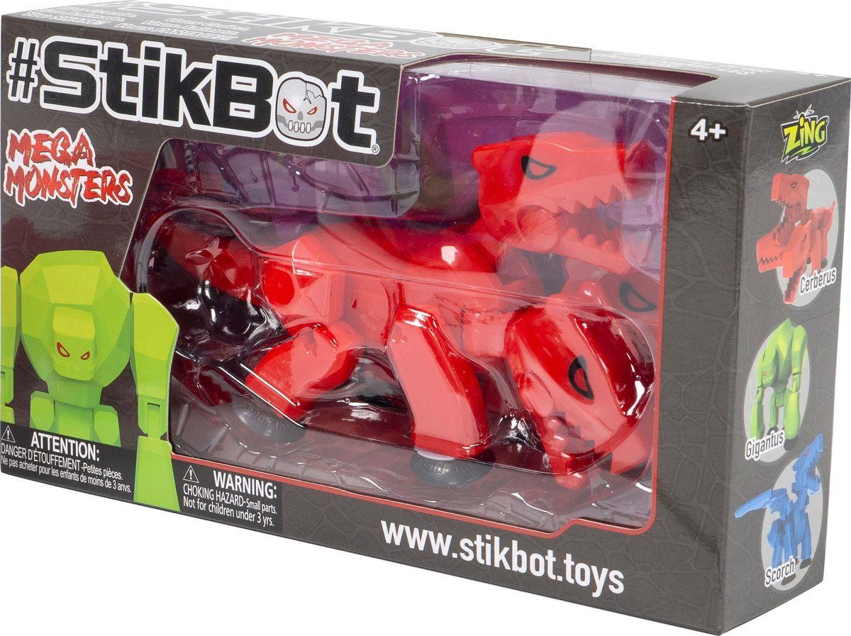 Фигурка Stikbot Мегамонстр TST627, красный stikbot фигурка питомцы бульдог красный