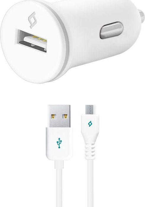 Автомобильное зарядное устройство TTEC Compact 2CKC01B 1A, Micro USB, белый