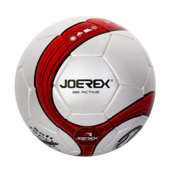 Мяч футбольный JOEREX JMS004-2, белый, красный мяч футбольный joerex 5 jis010