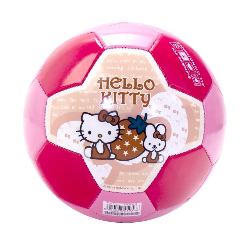Мяч футбольный Hello Kitty Мяч детский футбольный №3, HAB20242, розовый гирлянда luazon метраж футбольный мяч 5m ed 20 220v white 2433914