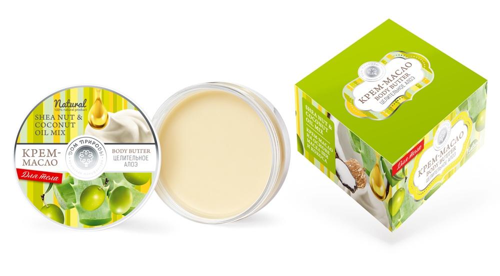 Крем-масло для тела Дом природы Целительное алоэ, 100 гр для тела оливковое масло название