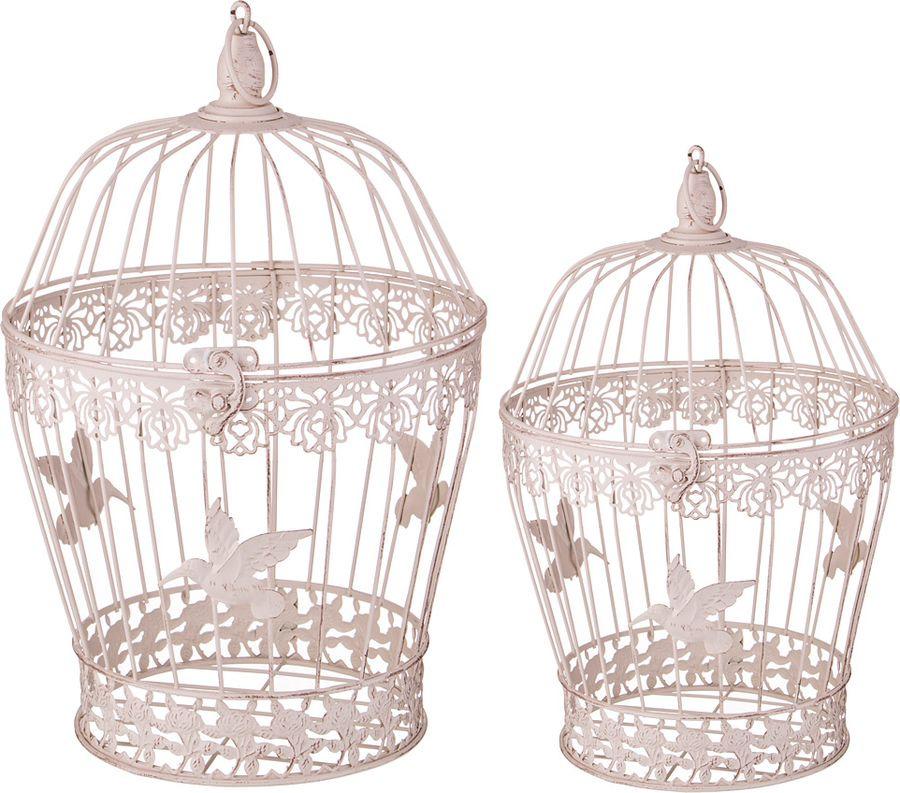 Набор декоративных клеток для птиц Lefard, 123-219, бежевый, 2 шт