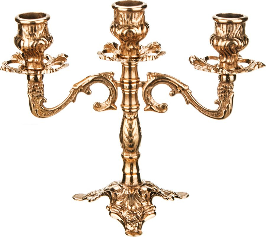 Подсвечник Lefard, 3-рожковый, 646-021, золотой, 20 х 10 х 18 см