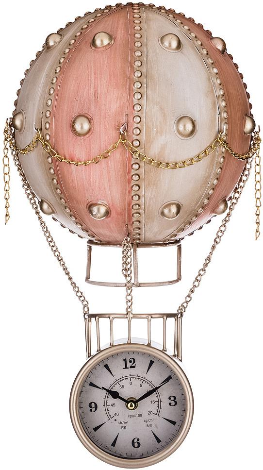 Настенные часы Lefard Аэростат, 799-132, 28 х 14 х 48 см настенные часы lefard 764 018 электронные серебристый диаметр 48 см