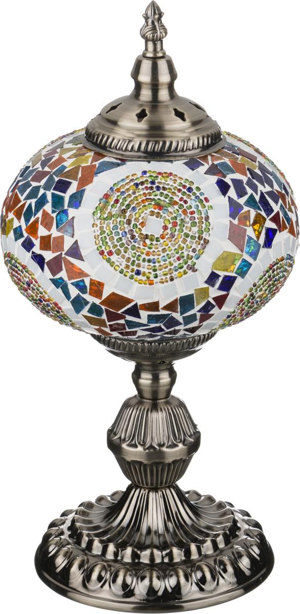 Светильник настольный Lefard, 212-064, разноцветный, 15 х 15 х 35 см настольный светильник risalux орфей e27 3218468 коричневый 28 х 28 х 44 см