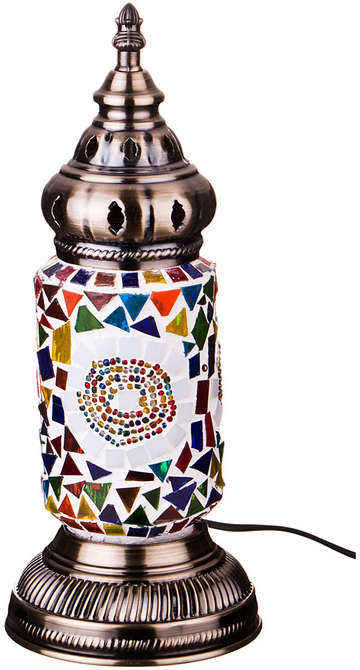 Светильник настольный Lefard, 212-074, разноцветный, 11,5 х 11,5 х 35 см настольный светильник risalux орфей e27 3218468 коричневый 28 х 28 х 44 см
