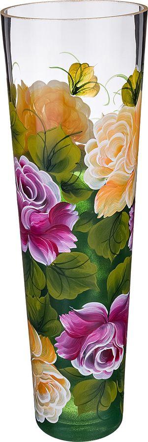 Ваза Lefard Роза, 135-5087, бордовый, высота 40 см
