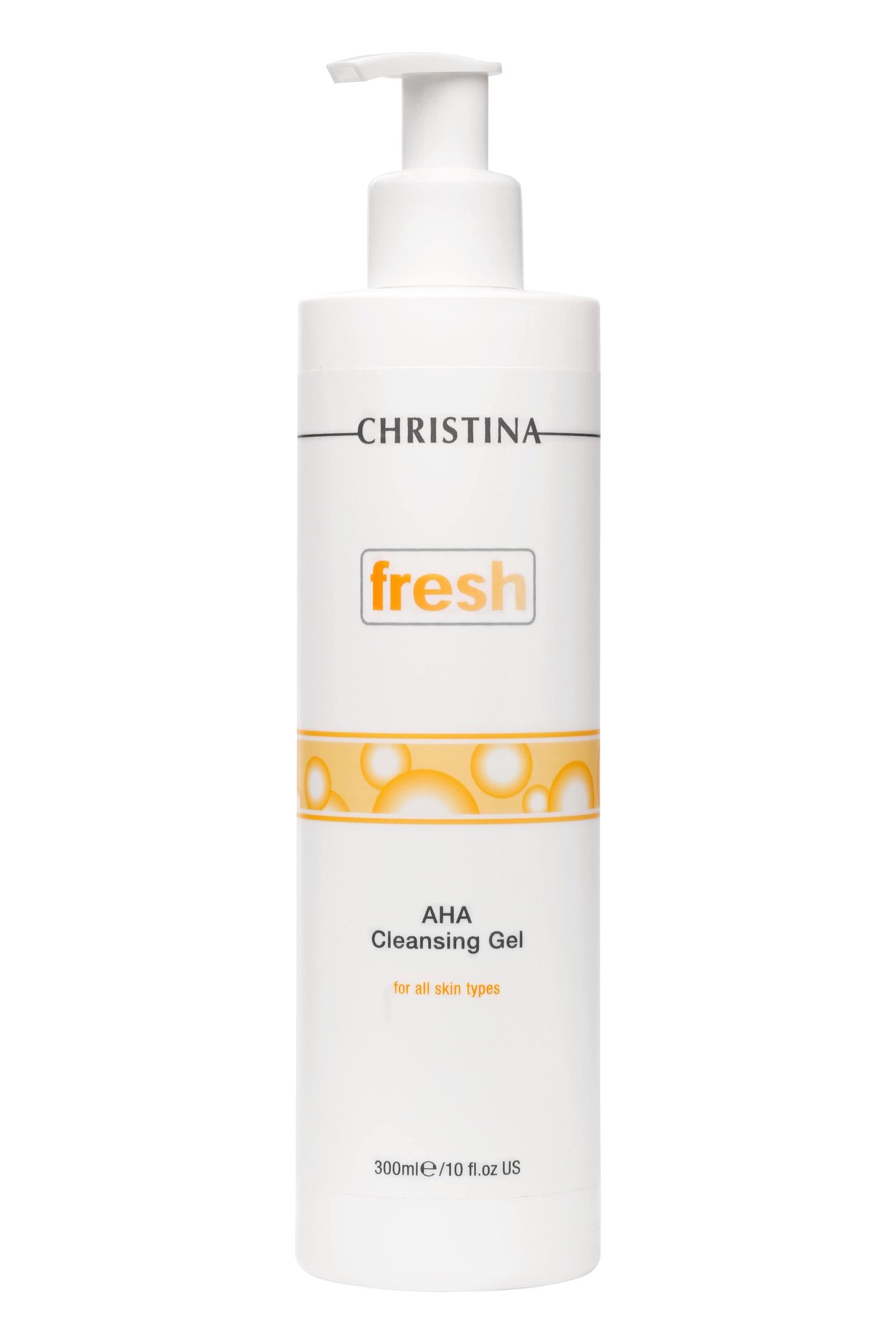 Гель для умывания CHRISTINA Очищающий с фруктовыми кислотами для всех типов кожи Fresh AHA Cleansing for all skin types christina азуленовый очищающий гель для чувствитетельной и склонной к покраснениям кожи fresh azulene cleansing gel for delicate
