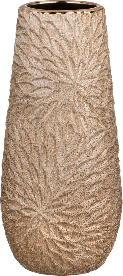 Ваза Lefard Герберы Легкая Бронза, 112-350, бежевый, 12,5 х 12,5 х 27 см ваза lefard подсолнух цвет коричневый 27 х 27 х 19 5 см
