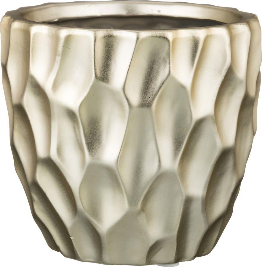 Ваза Lefard Золотые Блики, 112-378, серый, 11,5 х 11,5 х 10 см ваза lefard 112 431 золотистый 21 х 12 х 34 5 см