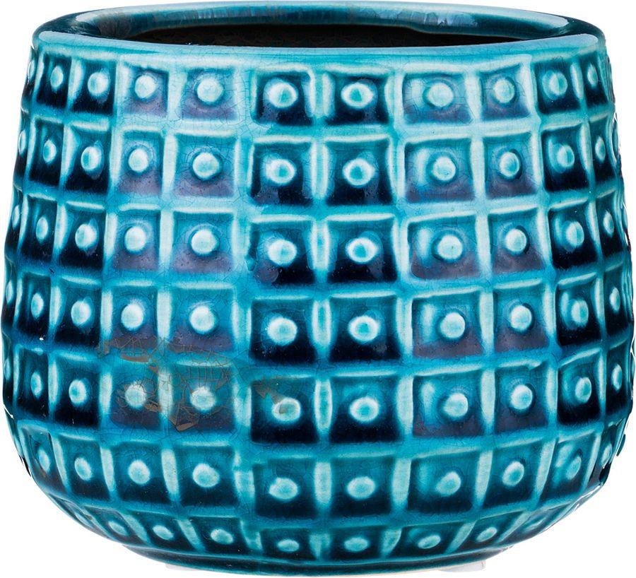 Ваза Lefard, 112-439, синий, 12 х 12 х 10 см ваза lefard 112 431 золотистый 21 х 12 х 34 5 см