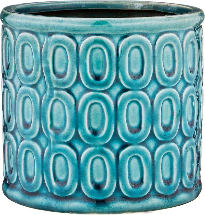 Ваза Lefard, 112-469, бирюзовый, 14 х 14 х 13 см ваза lefard 112 431 золотистый 21 х 12 х 34 5 см
