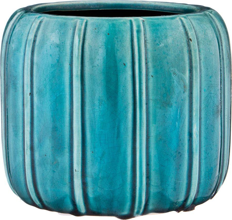 Ваза Lefard, 112-470, синий, 17 х 17 х 14 см кашпо lefard цвет розовый 14 х 14 х 13 см
