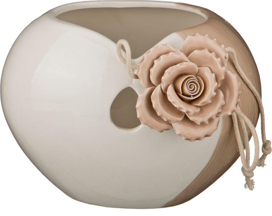Ваза Lefard Роза, 146-449, белый, 20,5 х 17 х 17,2 см