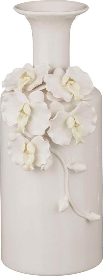 Ваза Lefard Орхидеи, 146-479, белый, 12 х 12 х 30 см цена