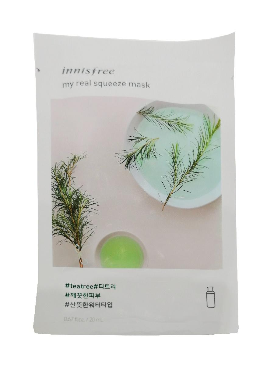 Innisfree It's Real Маска для лица с экстрактом чайного дерева rainbowbeauty антиоксидантная маска пилинг ночной крем с экстрактом чайного дерева