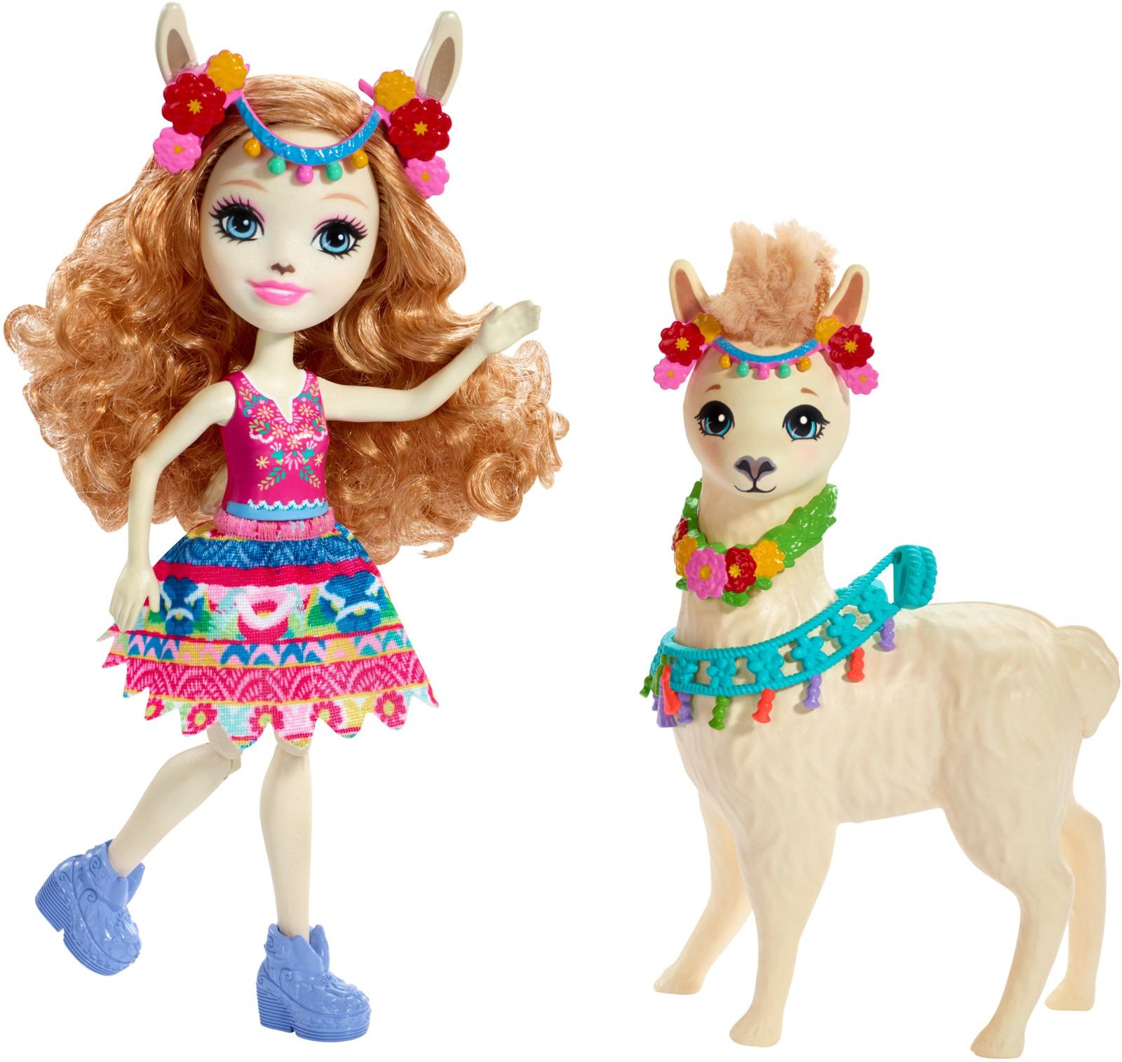 Игровой набор с куклой Enchantimals Lluella Llama & Fleecy, FKY72_FRH42 enchantimals игровой набор с куклой sage scunk