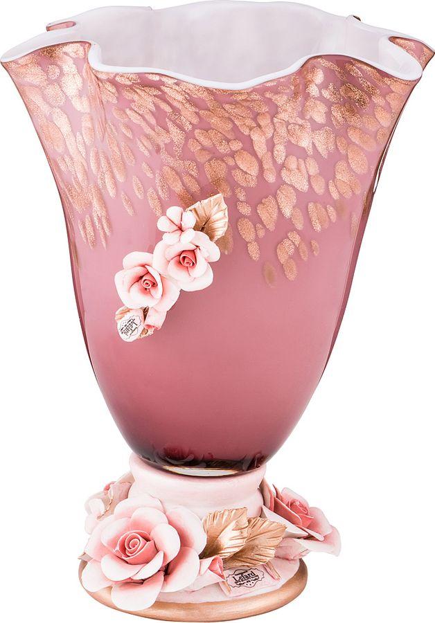 Ваза Lefard Флорентина, 183-121, розовый, 19 х 19 х 25,5 см цена 2017