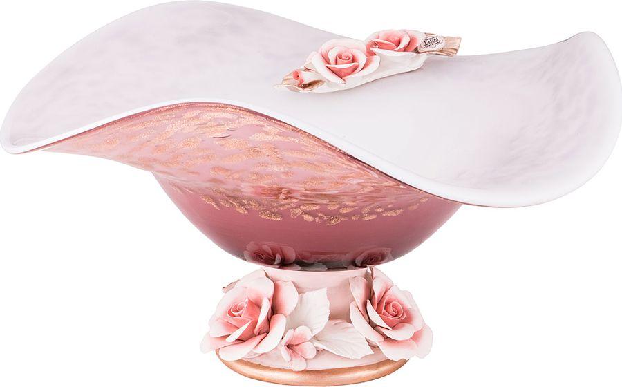 Ваза Lefard Флорентина, 183-125, розовый, 32 х 16 см