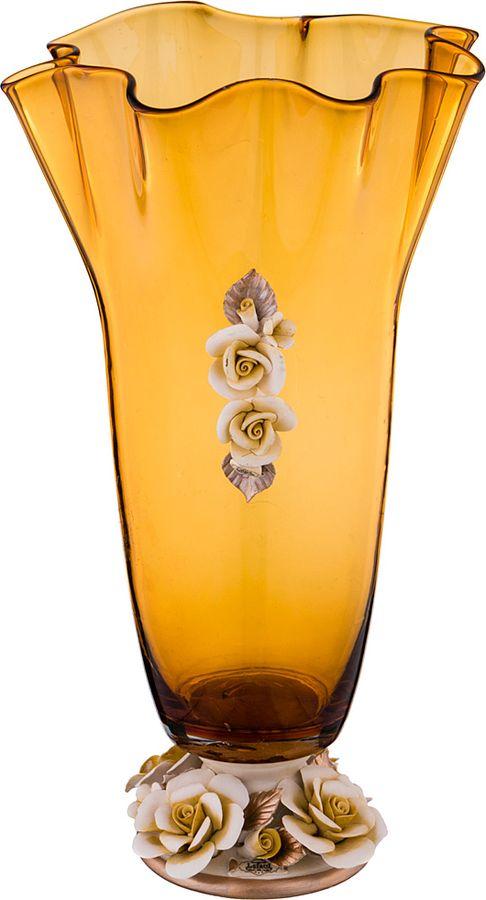 Ваза Lefard Флорентина, 183-167, желтый, 24,5 х 43,5 см